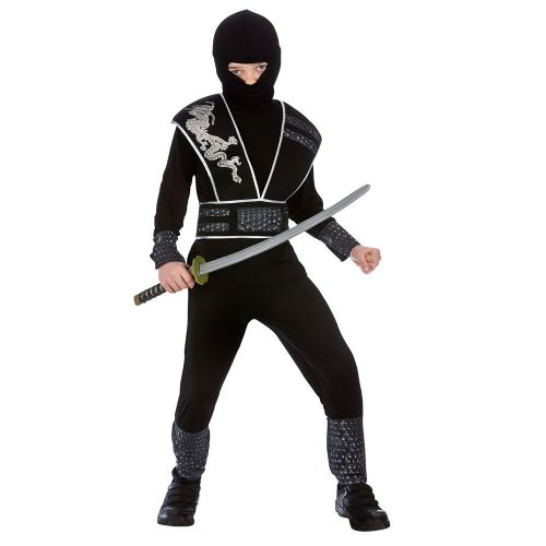 Boys Elite Shadow Ninja Costume for Oriental Fighter Soldier Fancy Dress